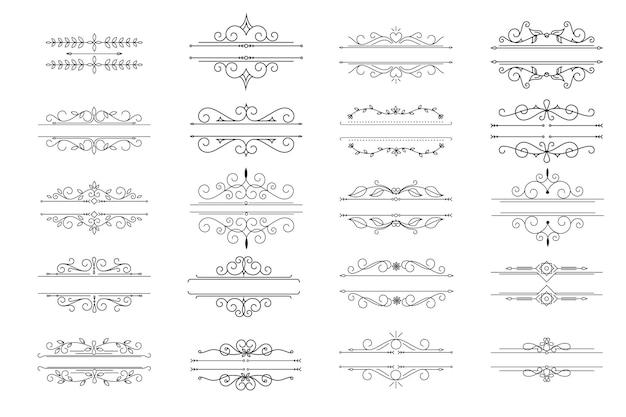 Sierlijke frames en scroll-elementen ontwerpen