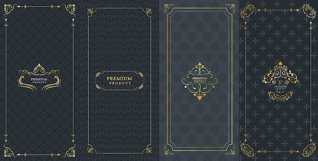 Sierlijke kaders en luxe logo's voor verpakking