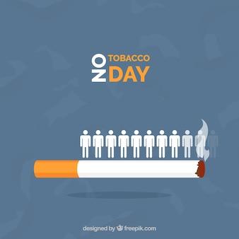 Sigaret achtergrond met mensen