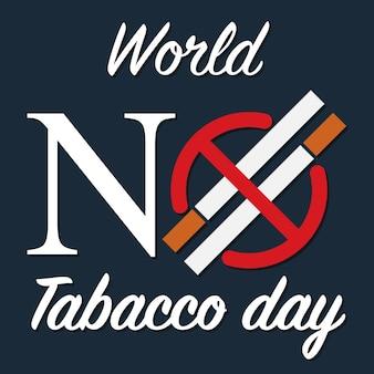 Sigaret met verboden cirkel, rookvrij logo