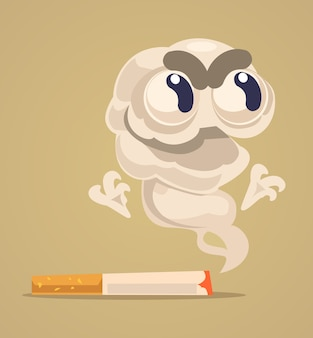 Sigaret monster karakter.