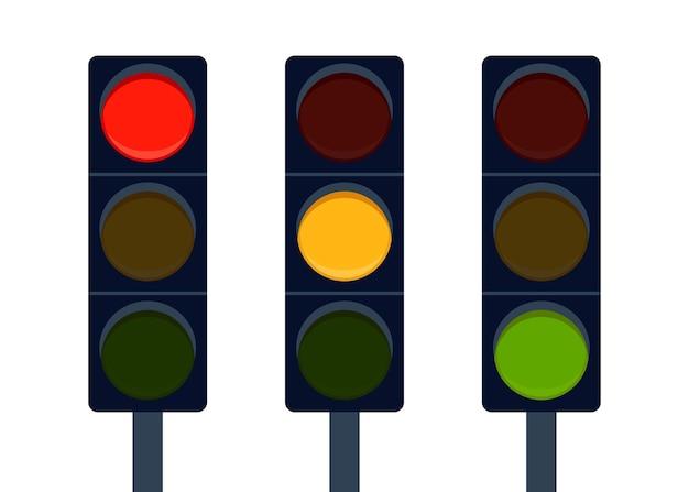 Signaal stoplicht op de weg verander signaal stoplicht richting controle regeling vervoer