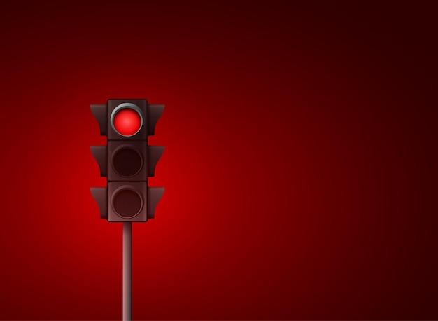 Signaal stoplicht wegwaarschuwingslamp