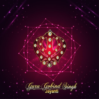 Sikh-festival, happy guru gobind singh jayanti-kaart