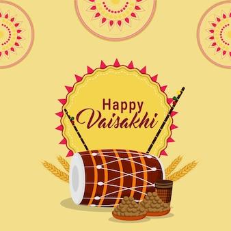 Sikh festival vaisakhi plat ontwerpconcept