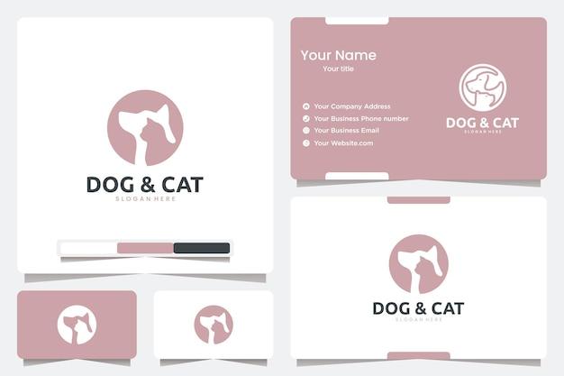 Silhouet hond en kat, logo-ontwerpinspiratie