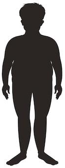 Silhouet menselijk mannetje op witte achtergrond