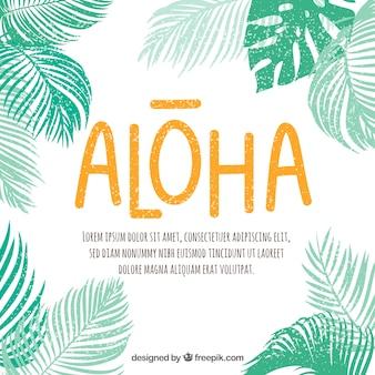 Silhouet palmen achtergrond met citaat