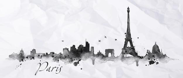Silhouet parijs stad