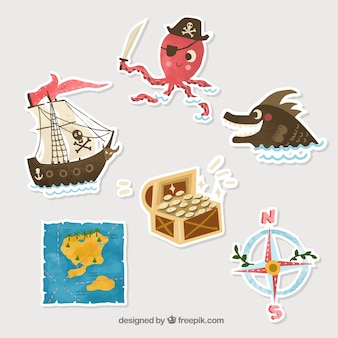Silhouet pirate stickers