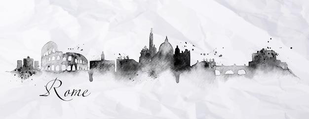 Silhouet rome stad
