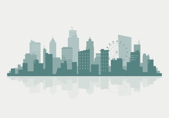 Silhouet skyline illustratie
