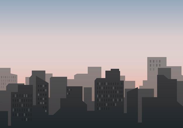 Silhouet skyline illustratie