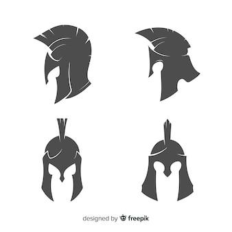 Silhouet spartaanse helm collectie