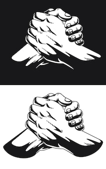 Silhouet urban soul handshake thumb clasp homie