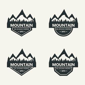 Silhouet van berg logo ontwerp vector