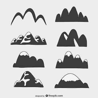 Silhouet van de bergen