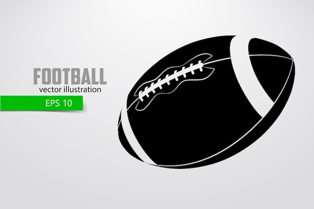 Silhouet van een amerikaanse voetbalbal
