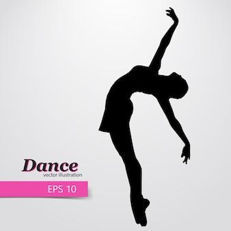 Silhouet van een dansende meisjesillustratie