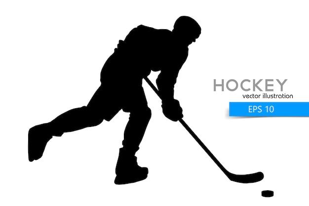 Silhouet van een hockeyspeler