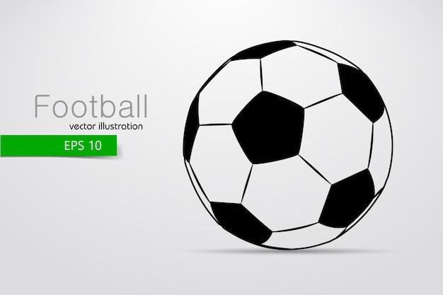 Silhouet van een illustratie van de voetbalbal