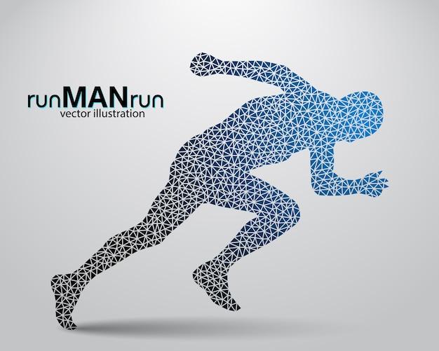 Silhouet van een lopende man