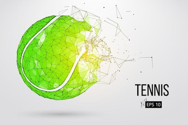 Silhouet van een tennisbal