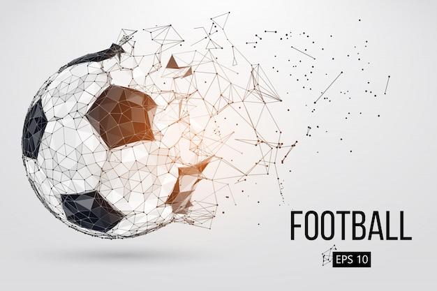Silhouet van een voetbal.