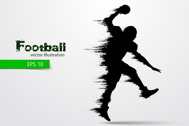 Silhouet van een voetballer. rugby. amerikaans voetbal. illustratie