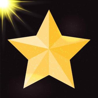 Silhouet van mooie ster op hemelachtergrond. vectorillustratie