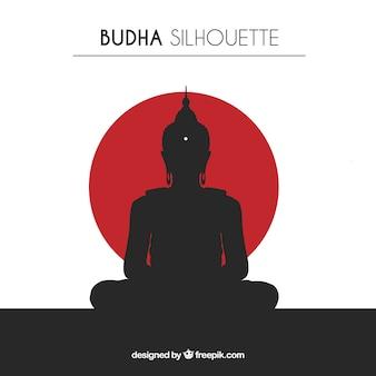 Silhouet van traditionele budha