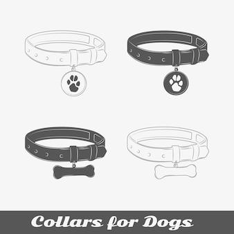 Silhouette halsbanden voor honden