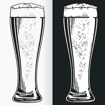 Silhouette tall pilsner bierglas stencil