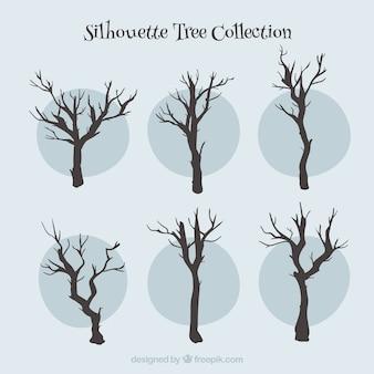 Silhouetten bomen collectie