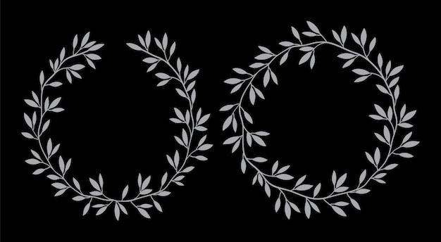 Silhouetten rond vintage bloemenframes