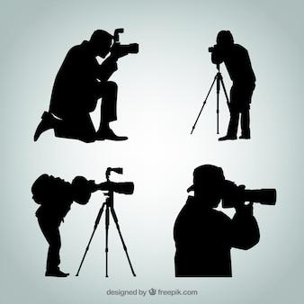 Silhouetten van de fotograaf