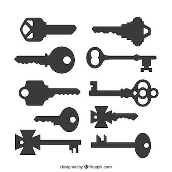 Silhouetten van de sleutels