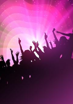 Silhouetten van feest menigte
