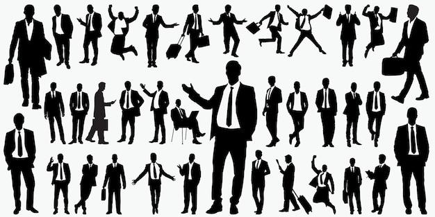 Silhouetten van mensen uit het bedrijfsleven
