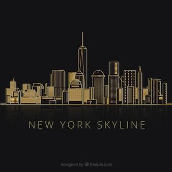 Silhouetten van new york city