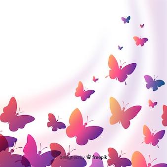 Silhouetten van vlinders
