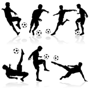 Silhouetten van voetballers