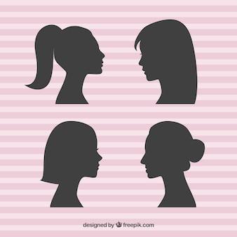 Silhouetten van vrouwen