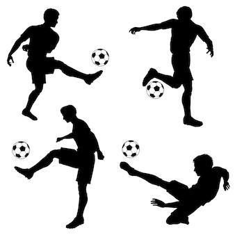 Silhouetten voetballers