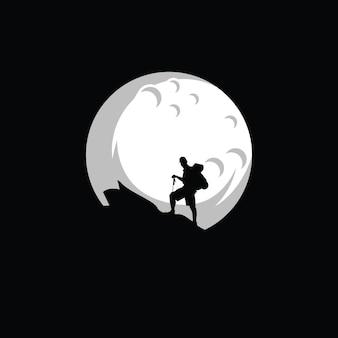 Siluet climber logo-ontwerp