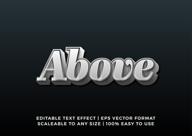 Silver chrome 3d gradient text effect