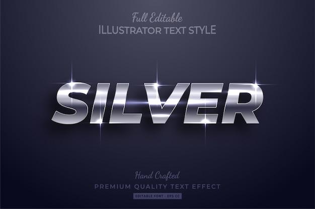 Silver glow bewerkbaar 3d-teksteffect