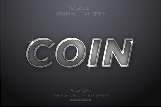 Silver shine bewerkbare teksteffect lettertypestijl
