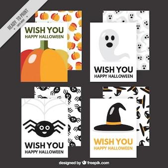 Simpaticas tarjetas de halloween
