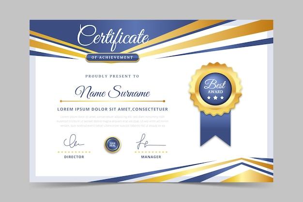 Simpel medewerker van de maand certificaat